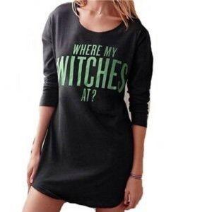 RARE VS Halloween 'Where my witches at?' Sleep Tee